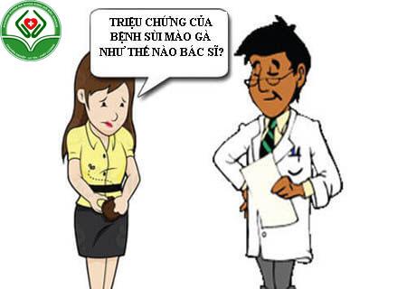 Biểu hiện của bệnh sùi mào gà