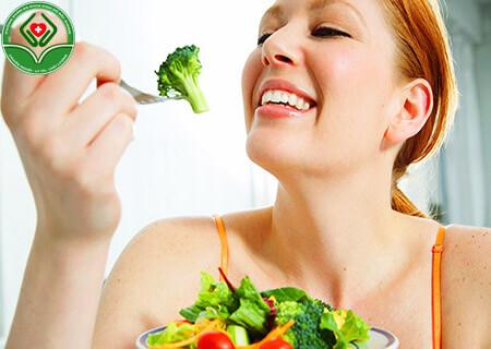 Chế độ ăn uống nhiều rau xanh